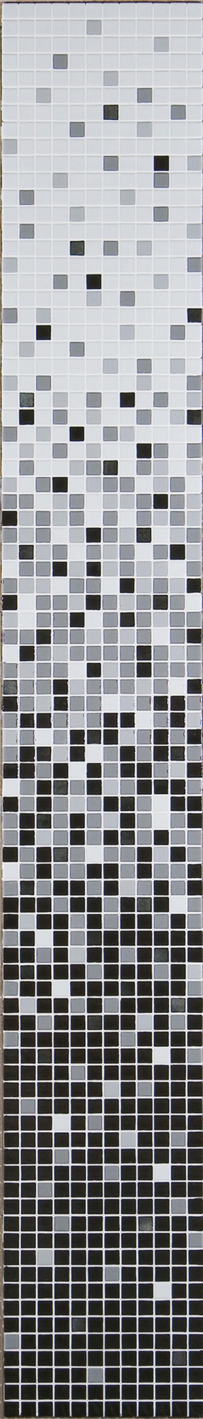 Senza Tempo Glas Mosaikfliesen Schwarz Weißgrau