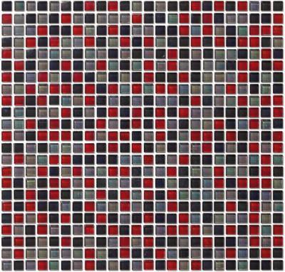 Gondola Glas Mosaikfliesen Rot Schwarz Orange Weiss Grau Gold