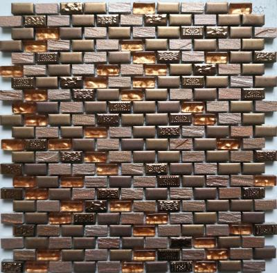 Antologia Glas Keramik Mosaikfliesen Braun GoldSilberPlatin - Mosaik fliesen braun gold