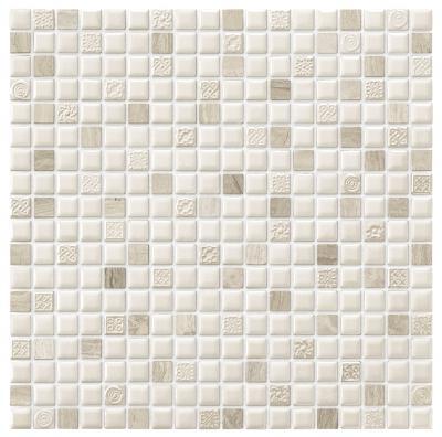 Terra E Pietra Stein Keramik Mosaikfliesen Weißgrau - Mosaik fliesen grau glänzend