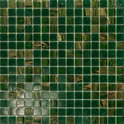 MUSTER Glasmosaik Fliese Grün Mix 25x25x4mm