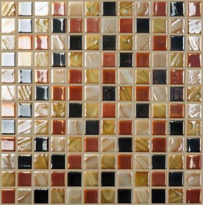 Agitazione Glas Mosaikfliesen Rot Gelb Schwarz Weiss Grau